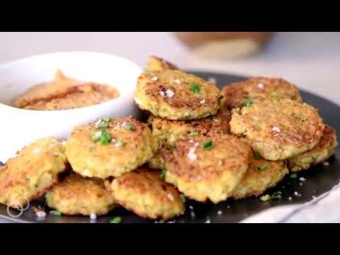 Grain-free Spicy Cauliflower Fritters {Keto, Paleo, Whole30}