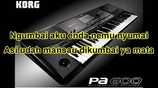 Tusah belaki nguai (dangdut version) karaoke iban