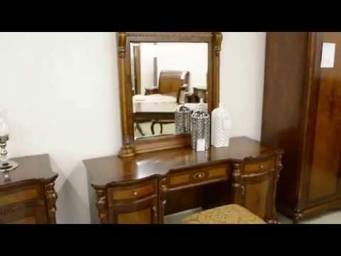 Смотреть Столик туалетный AN 221 и Зеркало-надставка в раме AN224 Ангелина ANGELINA (Carvelli). 2323