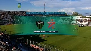 San Martin S.J. vs Arsenal de Sarandi full match