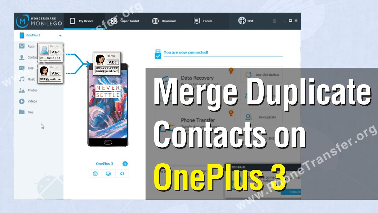 how to delete duplicate contacts