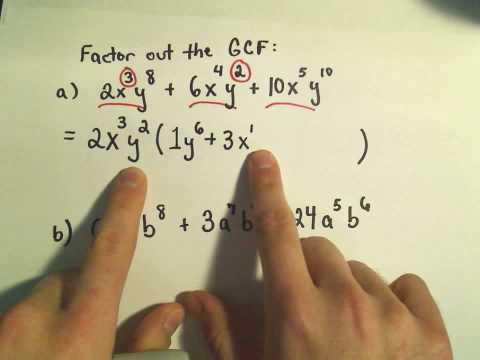Factoring Using the Great Common Factor, GCF - Example 1