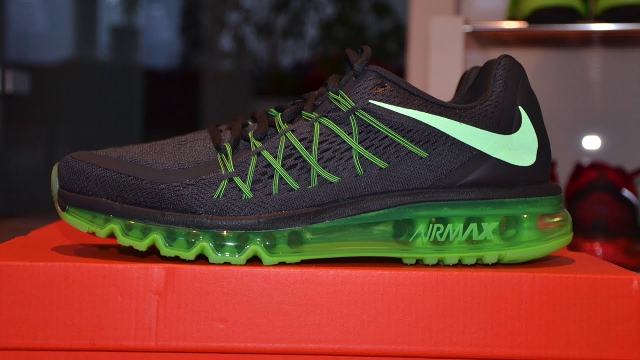 nike air max black and green