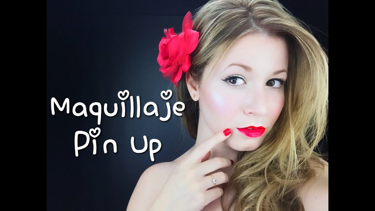 tutorial maquillaje pin up youtube. Black Bedroom Furniture Sets. Home Design Ideas