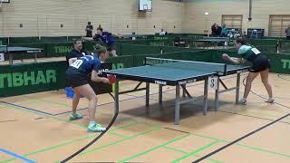 Finale Deichert Wombach vs Pranjkovic Kolbermoor 20181209 Ansbach Bayer Jugend M Table Tennis Stativ