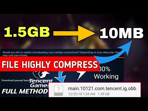 PUBG MOBILE Apk+Obb File Highly Compressed | Download Failed Because WiFi Disabled