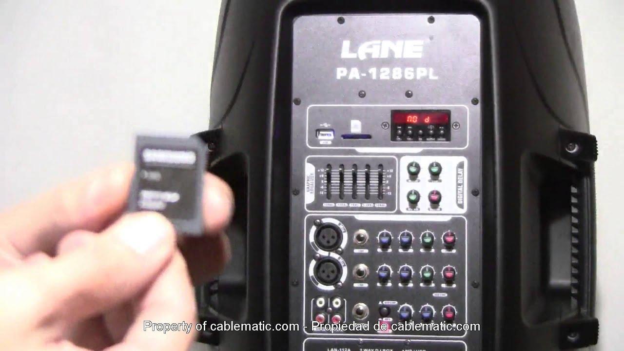 Altavoz Profesional Rms Con Amplificador Eq Sd Usb