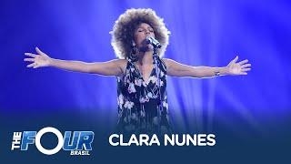 Nega é aplaudida de pé por jurados ao soltar a voz em Canto das Três Raças, de Clara Nunes