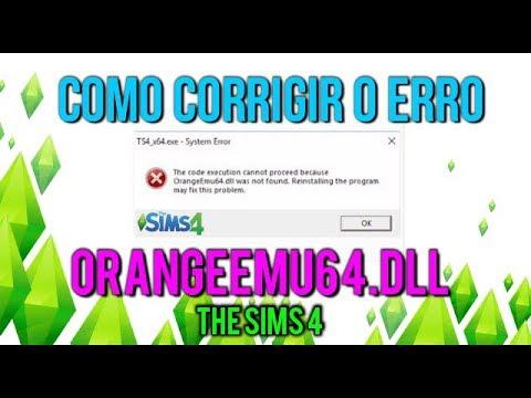 Como Resolver o Erro OrangeEmu64.dll no The Sims 4. Guia ...