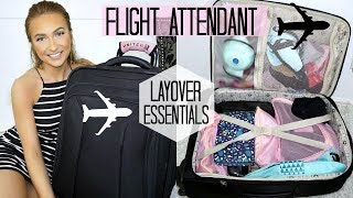 WHAT'S IN MY WORK SUITCASE ?!? | FLIGHT ATTENDANT EDITION