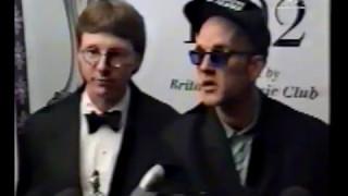 R.E.M. 1992-02-12 -  MTV News (Mills & Stipe interview following 'Best International Group' win)