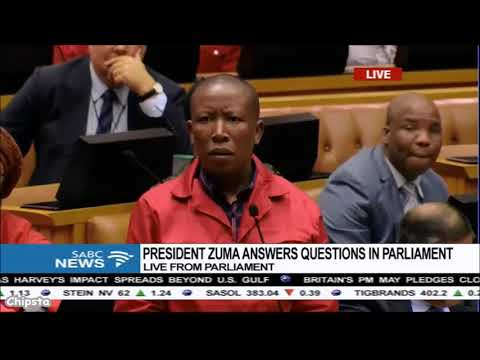 Malema: We cant have Duduzane father here