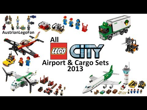 All Lego City Airport & Cargo Sets 2013 - Lego Speed Build Review