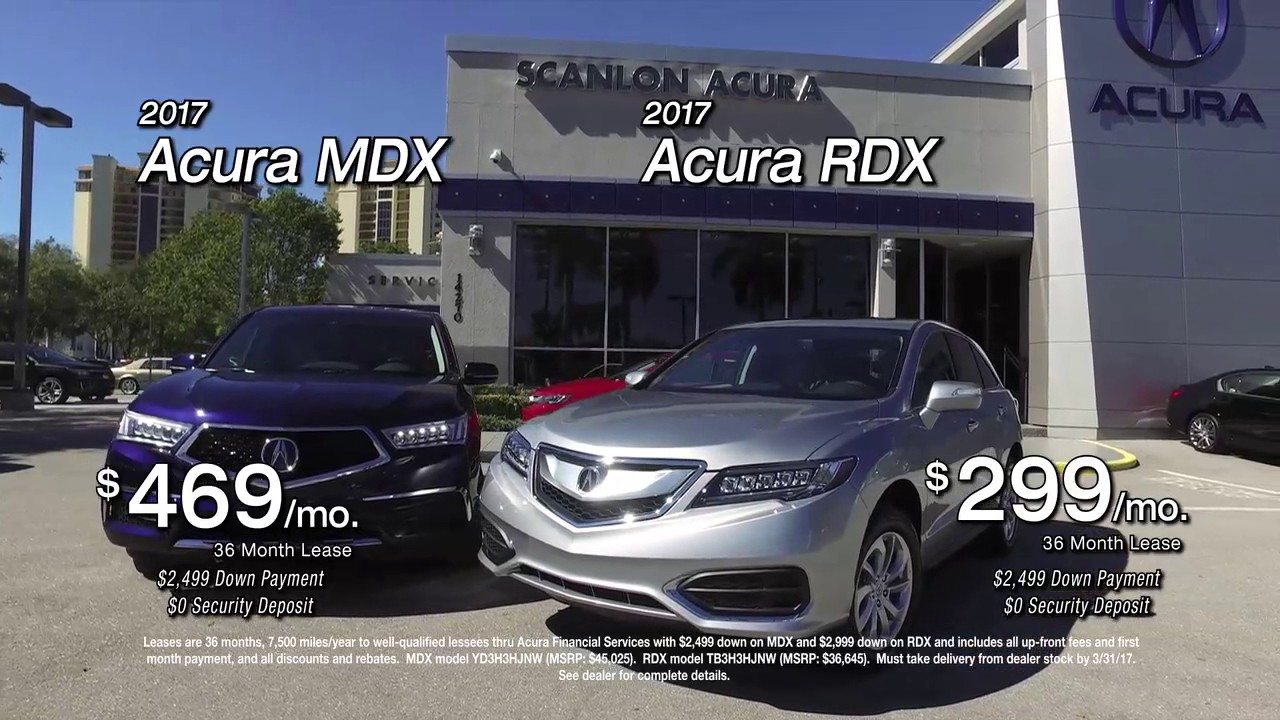 Acura Fort Myers >> Scanlon Acura In Fort Myers Has A Luxury Suv Lease For You