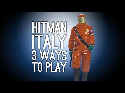 Hitman Gameplay: Sapienza - 3 Ways to Play (Exploding Golf Ball, Fake Ghost, Poison Spaghetti)