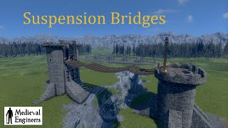 Medieval Engineers :: 01 :: Easy Suspension Bridge