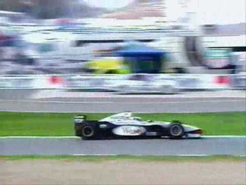 F1 1997 European GP: Hakkinen pass Coulthard and Villeneuve
