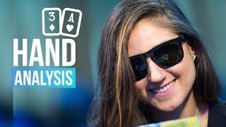 Hand Analysis with 888poker Ambassador Ana Marquez