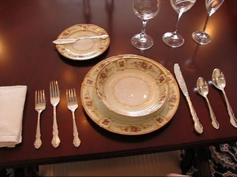 & Bettyu0027s Quick Tip 86--An Example of a Formal Place Setting - YouTube