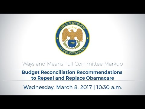 Budget Reconciliation Recommendations to Repeal and Replace Obamacare