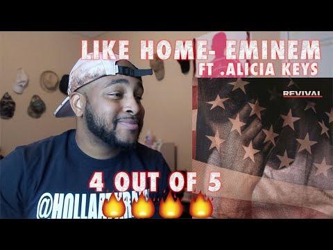 Eminem - Like Home ft. Alicia Keys (REVIVAL ALBUM) REACTION ( SUPER HOT FIRE )