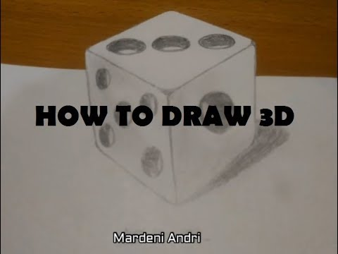 membuat gambar dadu 3 dimensi untuk pemula YouTube