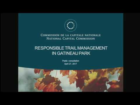 Responsible management of Gatineau Park trails