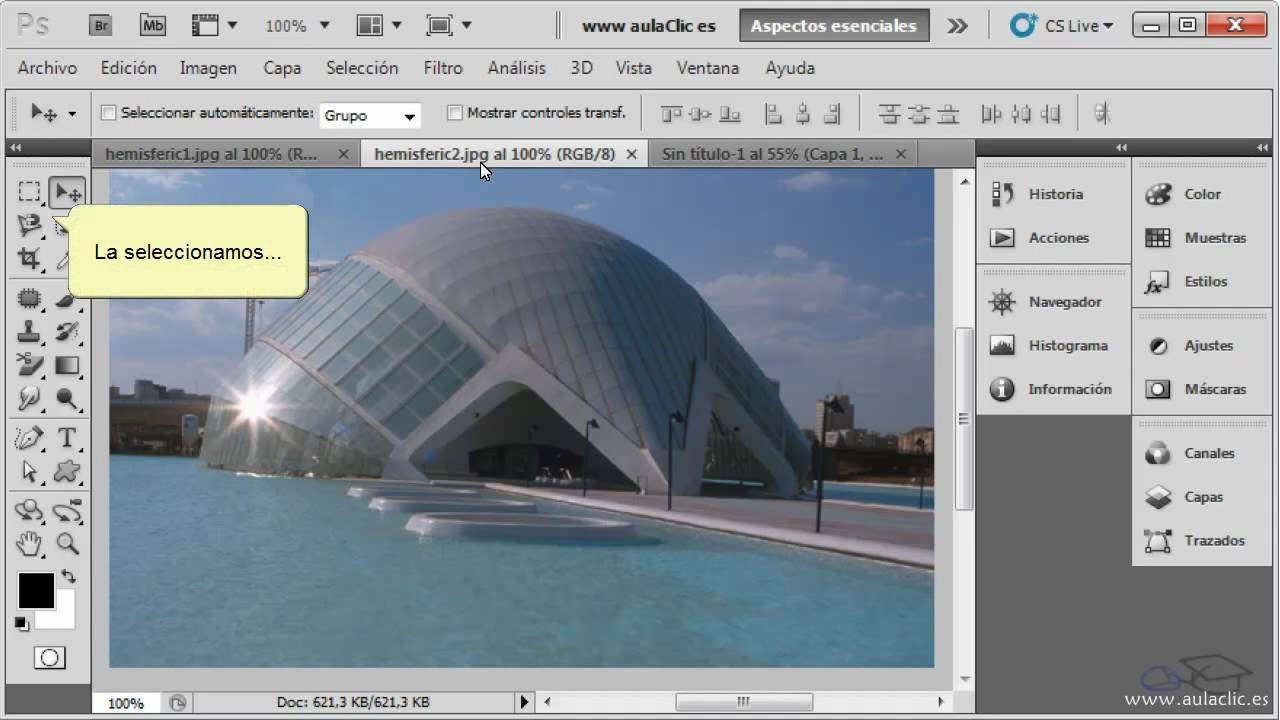 Curso De Photoshop Cs5 Ejercicio 6 1 Copiar Y Pegar Selecciones Youtube