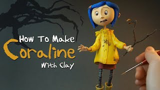 Making Coraline Figure with clay_clay tutorial_clay art_how to make coraline
