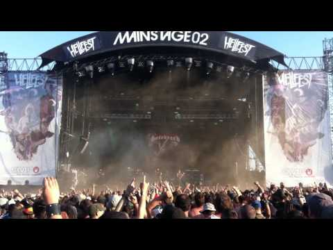 Hatebreed live @ Hellfest 2014 Tear It Down + Betrayed By Life