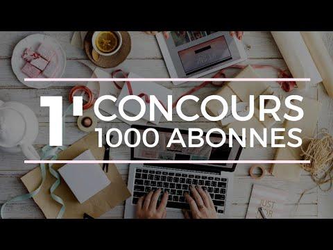 #Concours en 1' (Objectif 1000 abonnés - 1 Cadeau High Tech !)