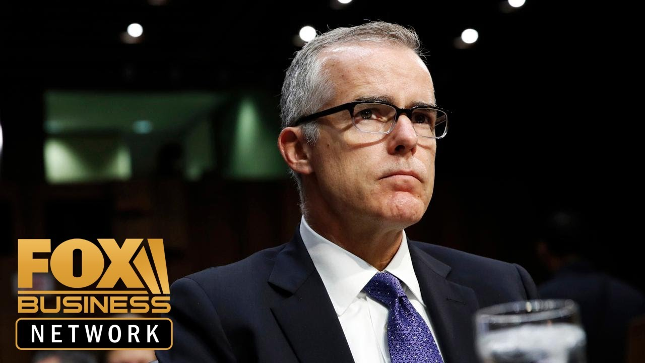 FOX Business DOJ rejects Andrew McCabe's last-ditch appeal