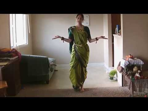 How to drape saree in La Gochi Kattu style, with Maharashtrian variation