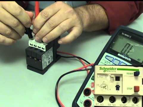 Électricité - Relais de surcharge thermique industriel