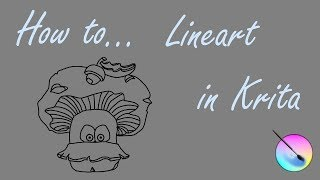 Lineart with Krita