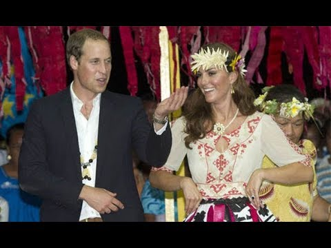 Kate receives her first royal GONG - from tiny South Pacific island Tuvalu