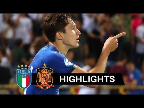 Italia vs Spagna 3-1 Highlights & Goals HD 2019 (Under 21)