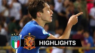 Italia vs Spagna 3-1 Highlights & Goals HD 2019 (Under 21)