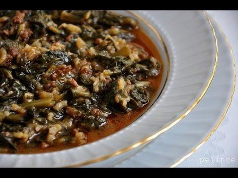 recette-:-soupe-épinard-viande-hachée-et-riz-/-ispanak-yemegi-tarifi