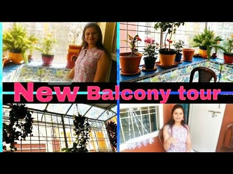 BALCONY MAKEOVER | NEW BALCONY TOUR| BALCONY DECORATION IDEAS| BALCONY ORGANISATION | PLANTATION