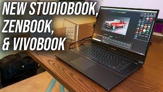 New ASUS StudioBook S, ZenBook S13 and VivoBook X512 Laptops