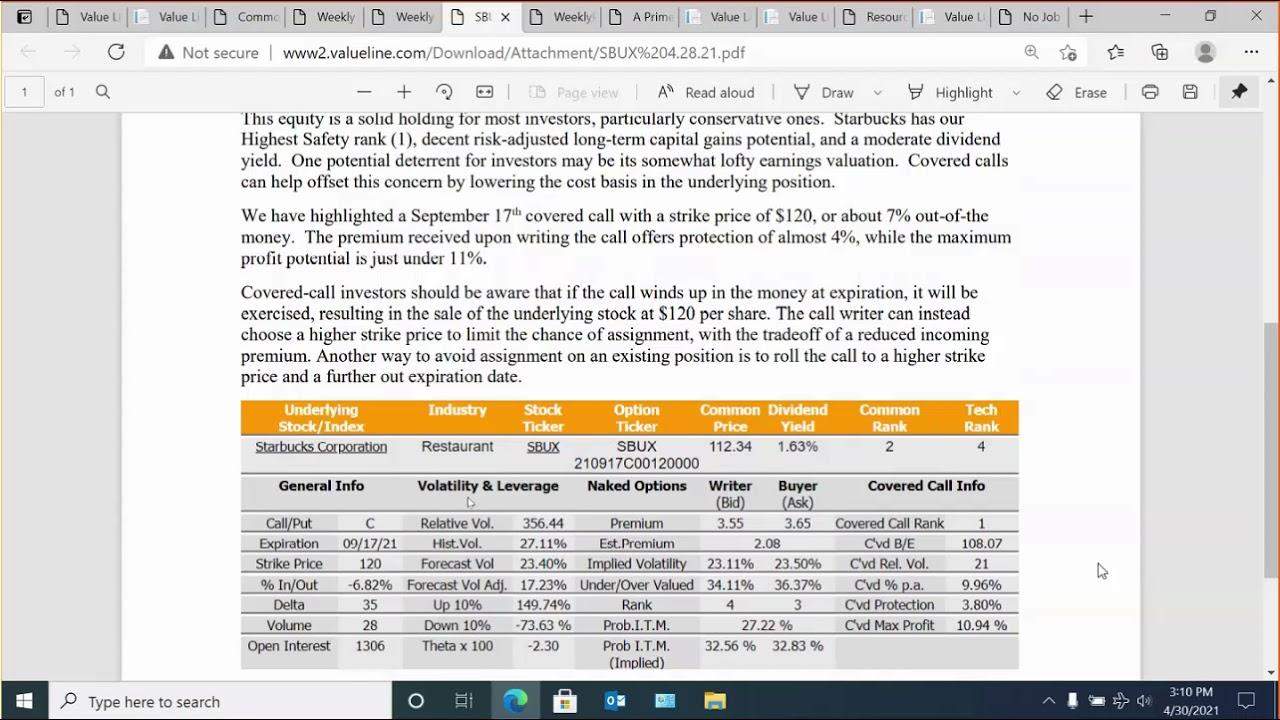 Download The Value Line Options Survey Webinar - April 30, 2021