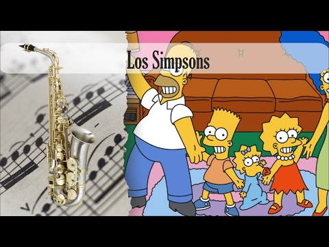 Partitura Los Simpsons Saxofón Alto