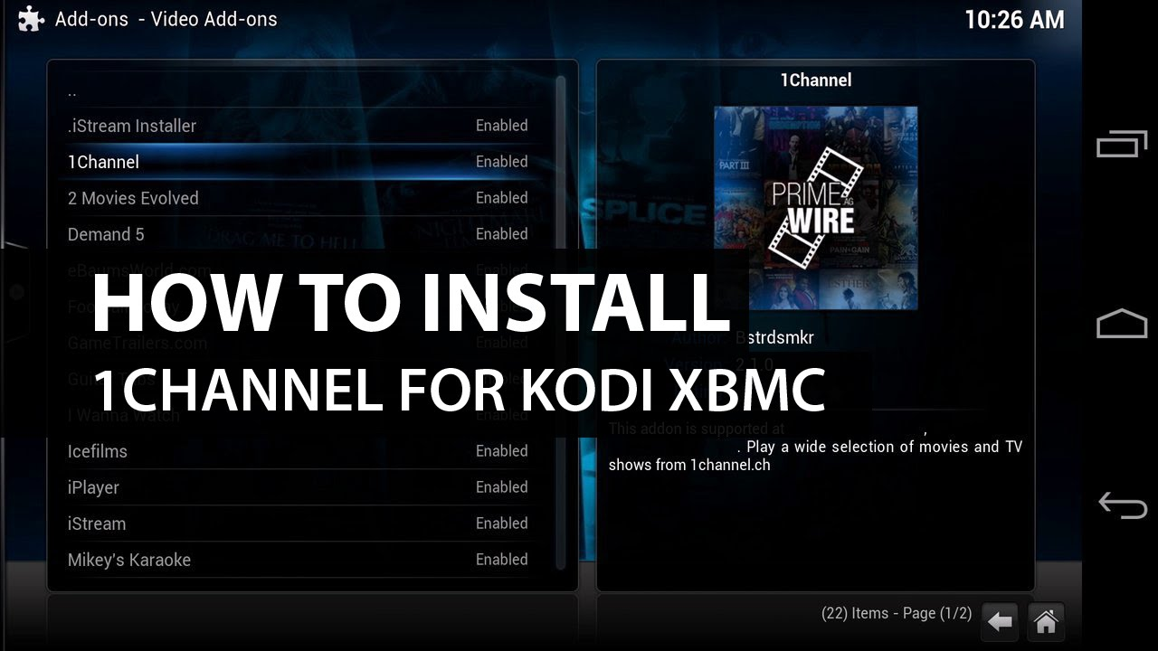 1Channel Kodi XBMC: How To Install 1Channel on Kodi XBMC - YouTube