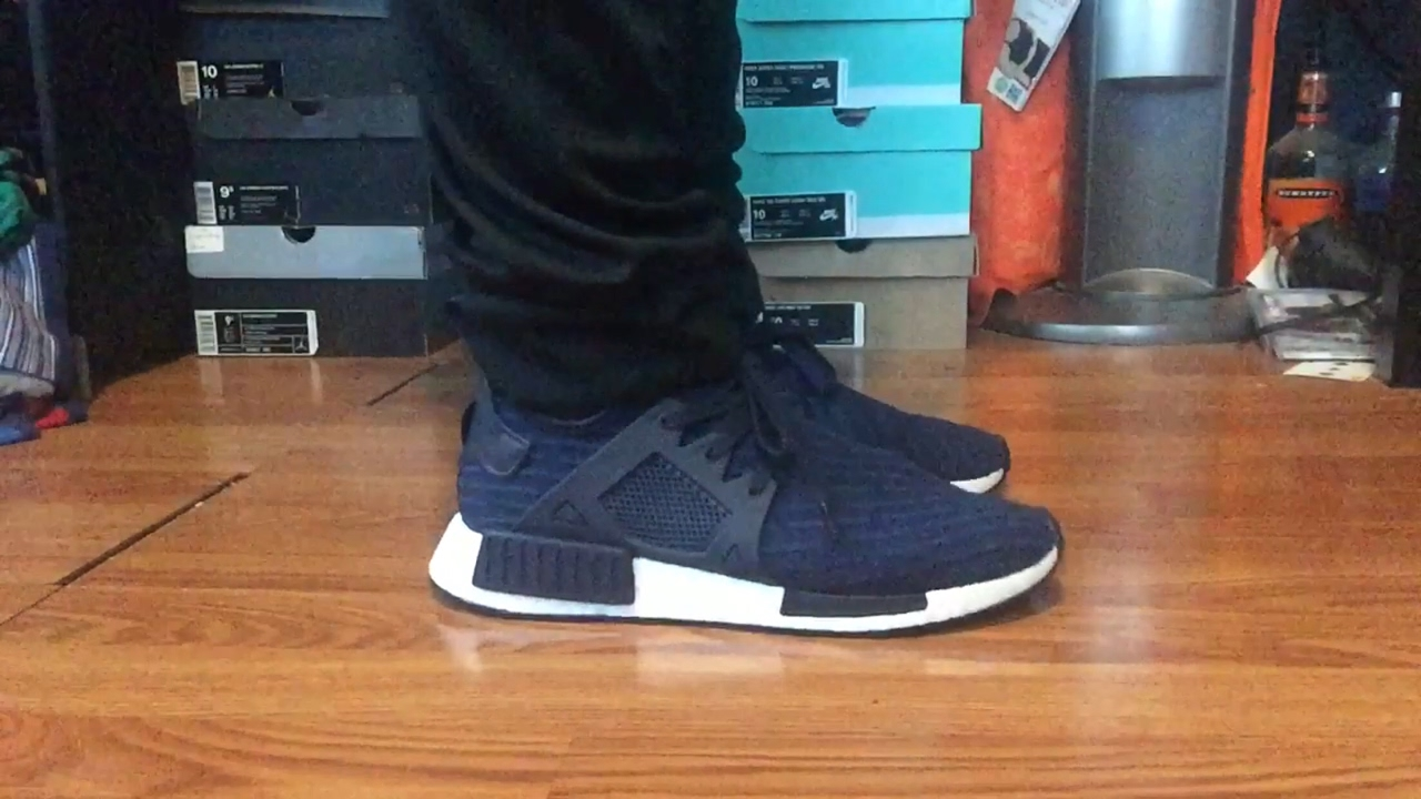 048f9c743d101 Adidas NMD XR1 PK collegiate Navy Blue review  on foot (unboxing ...