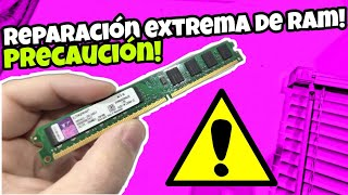 Como REPARAR o ARREGLAR memorias RAM en general (limpieza extrema peligroso)