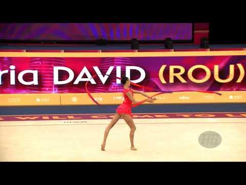 DAVID Alice Maria (ROU) - 2019 Rhythmic Worlds, Baku (AZE) - Qualifications Ribbon