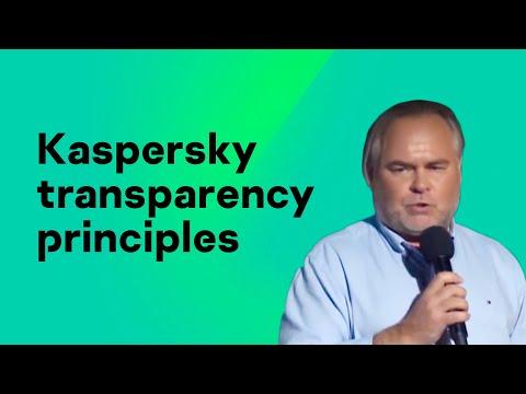 Kaspersky Lab transparency principles
