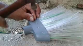 VASSOURA DE FIOS DE GARRAFA PET / DIY