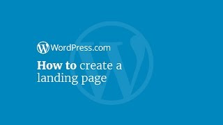 Bir Açılış Sayfası Oluşturmak için Nasıl WordPress Eğitimi: